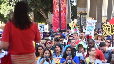 As many as 1,500 people attended the Chicano Park rally, according to organizers.