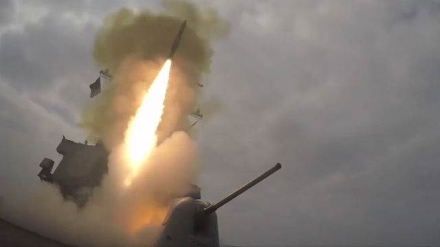 USS Decatur launches missile