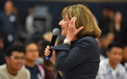 Rep. Susan Davis saluted her fellow House member, John Lewis.