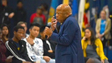 Rep. John Lewis tells of meeting one of his 1960s assailants decades later. Lewis forgave his attacker, accepting his apology.