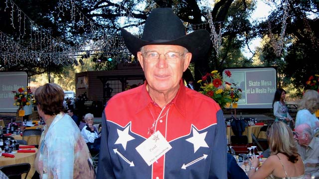 Paul Jacob in undated photo at The Branding fundraiser at his Deerhorn Valley ranch in Jamul.