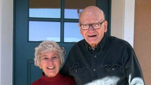Don and Ellen Bauder, who married in September 1962, stand at their home of 15 years in Salida, Colorado.