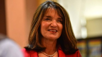 Republican Diane Harkey manages a smile on night she lost 49th Congressional District race.