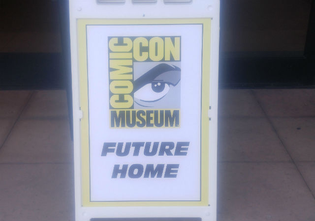 Placard marks future home of Comic-Con Museum