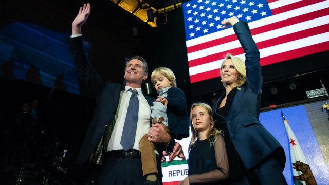 Governor-elect Gavin Newsom and his family