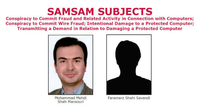 Images and names of the suspects from an FBI wanted poster.