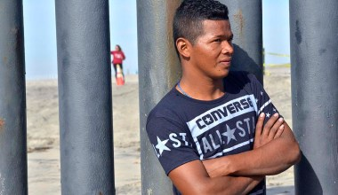 Nixon (first name), 19, from Honduras arrived in Tijuana the day before.