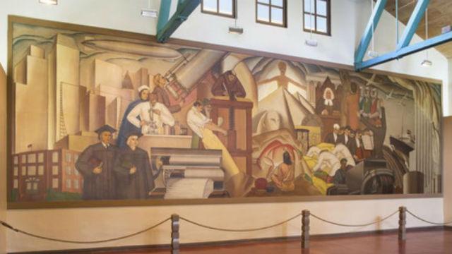 """Progress of Man"" in the Balboa Art Club"