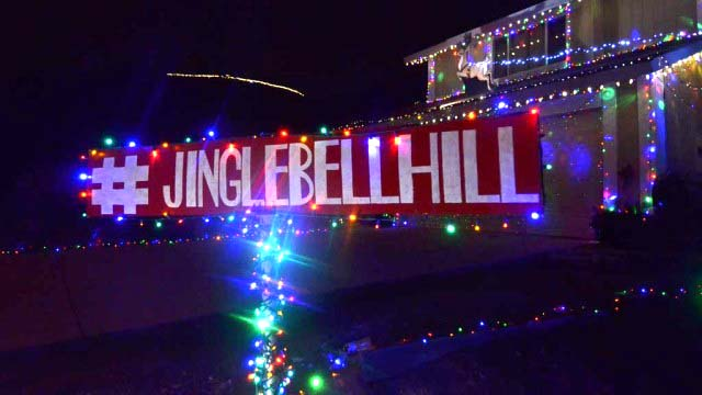 Jingle Bell Hill is at Pepper Drive, Solomon Avenue, Pegeen Place and surrounding streets in El Cajon.