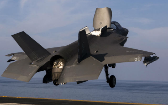 F-35B Lightning II launches from the USS Essex