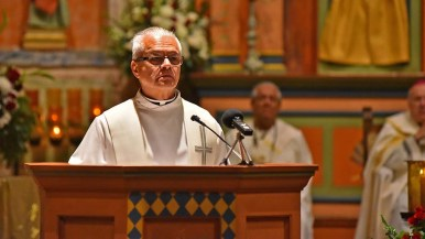 Mission San Diego de Alcala's pastor Fr. Peter Escalante spoke about the mission's history and hope for reconciliation with Native Americans.