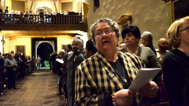 About 300 people gathered to celebrate the start of Mission San Diego de Alcalá's 250th anniversary year.