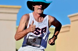 At 59, Ian Whatley of Greenville, South Carolina, was racing his 34th 50K. He would take fifth in the U.S. men's race.