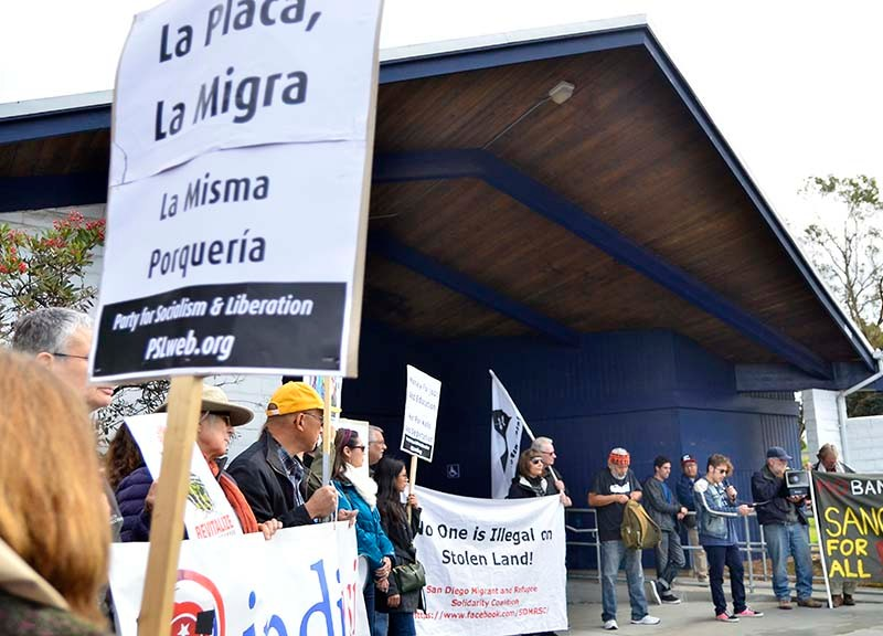 Eighty protestors from various organizations spoke about various immigration issues.