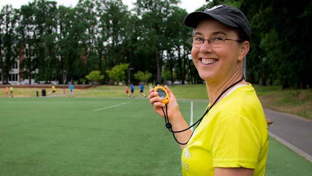 Carmen Jackinsky also coaches for a living in the Portland, Oregon, area.