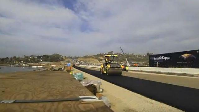 Construction along Interstate 5