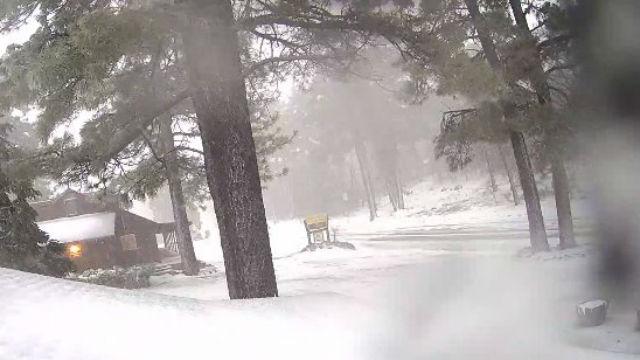 Snow at Laguna Mountain Lodge