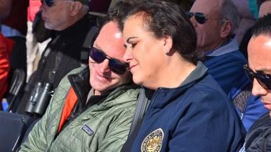 County Supervisor Nathan Fletcher and Assemblywoman Lorena Gonzalez Fletcher enjoy the quiet environment at Kendall-Frost Mission Bay Marsh Reserve.