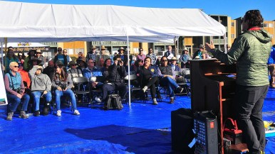 County Supervisor Nathan Fletcher was one of the local officials to address about 100 people who gather to visit the Kendall-Frost Mission Bay Marsh Reserve.