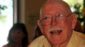 David Pain at his 90th birthday party in 2012.