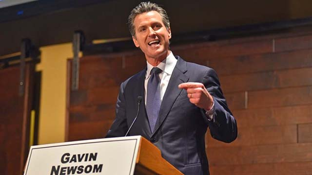 Gavin Newsom appears in San Diego debate before 2018 primary.