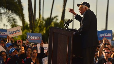 Sen. Bernie Sanders set out his populist platform in hopes of gaining support in next year's state primary.