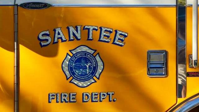 Santee Fire Department truck