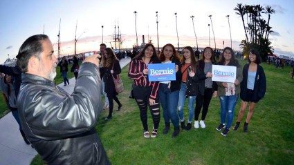 Preserving the moment after Bernie Sanders rally near San Diego Bay.