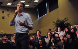 """Beto O'Rourke said: """"If you do not have a home or roof overhead, if you cannot see a doctor, then there's more a likely chance that you will be homeless in the first place."""" Photo by Chris Stone"""