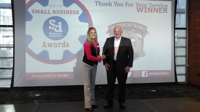 Stephanie Brown of the The Rosie Network with Jerry Sanders