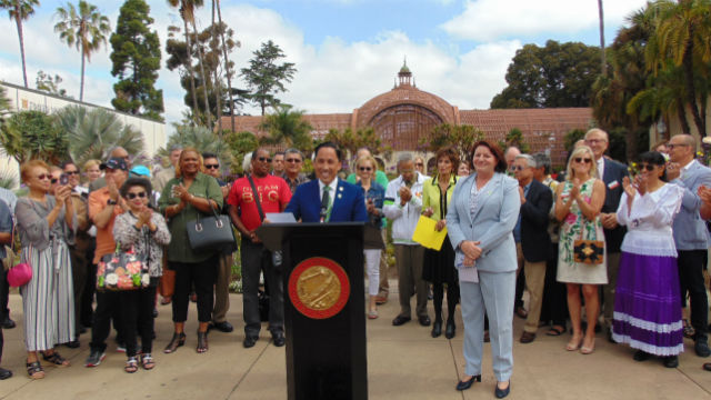 Todd Gloria and Toni Atkins announce funding for Balboa Park and Liberty Station
