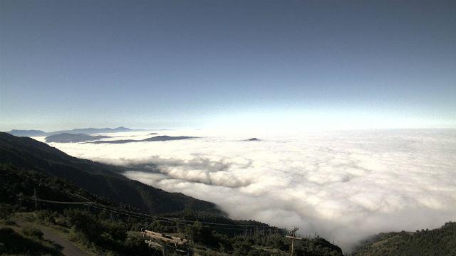 Morning fog over Valley Center