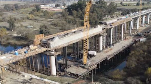 Bridge for High-Speed Rail system under construction