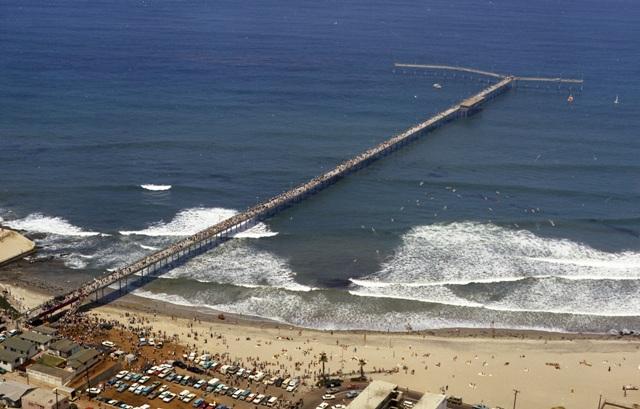 Aerial photo of Ocean Beach Pier