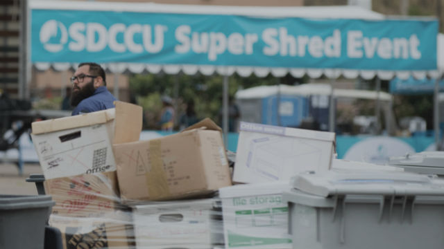 SDCCU Super Shred event