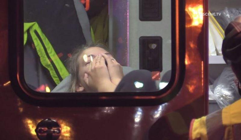 Victim of BB-gun shootings inside an ambulance