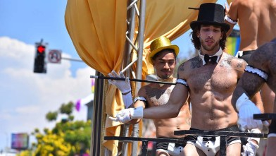 Rich San Diego Bar was the final float in the 2019 San Diego Pride Parade.