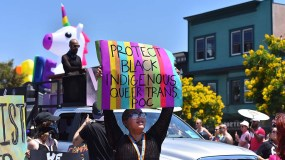 Marchers called for the protection of gay people of color.