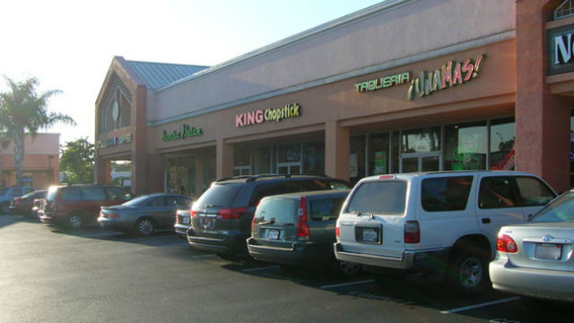 Strip mall in northern California