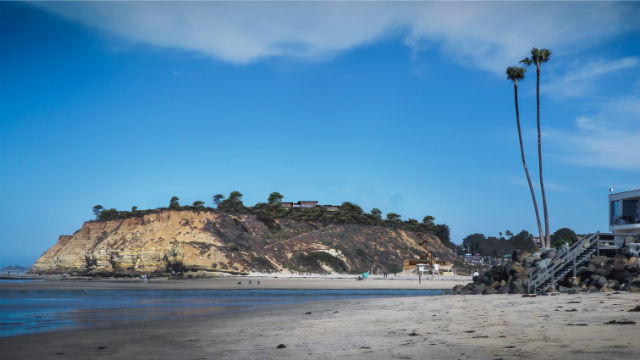 A view of the proposed hotel from the beach in Del Mar