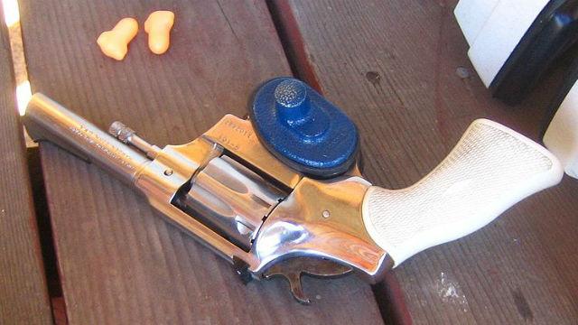 A trigger lock on a revolver