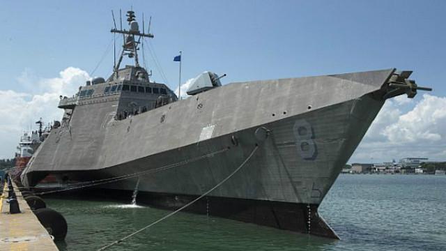 USS Montgomery in Singapore