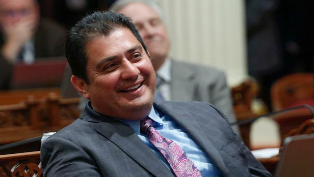 Ben Huseo in the California Senate chamber