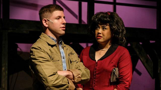 "Scene from ""Dogfight"" at the Coronado Playhouse"