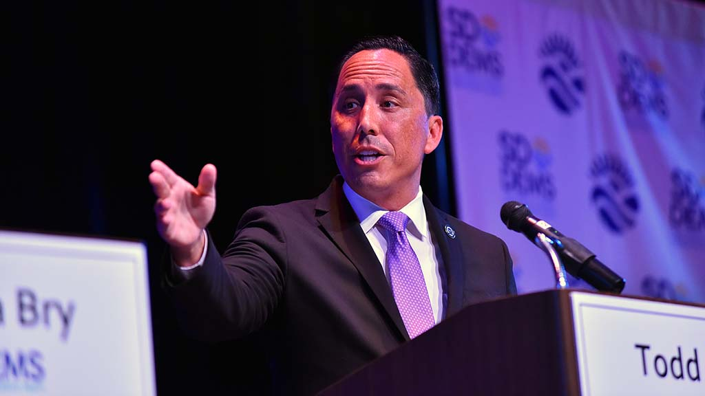 "Todd Gloria accused electric scooter critic Barbara Bry of ""politicizing someone's tragedy."""