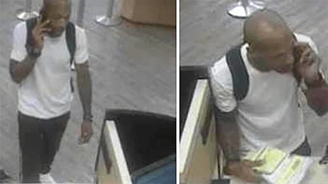 Surveillance photos from Aug. 23 Wells Fargo robbery.
