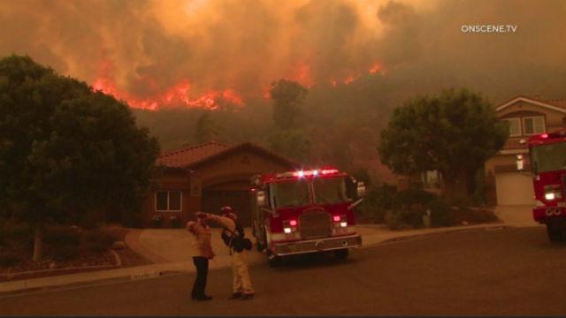 Tenaja fire in Murrieta
