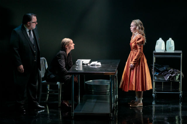 "om Stephenson (left), Lisel Gorell-Getz and Olivia Hodson in ""The Virgin Trial"" at Cygnet Theatre"