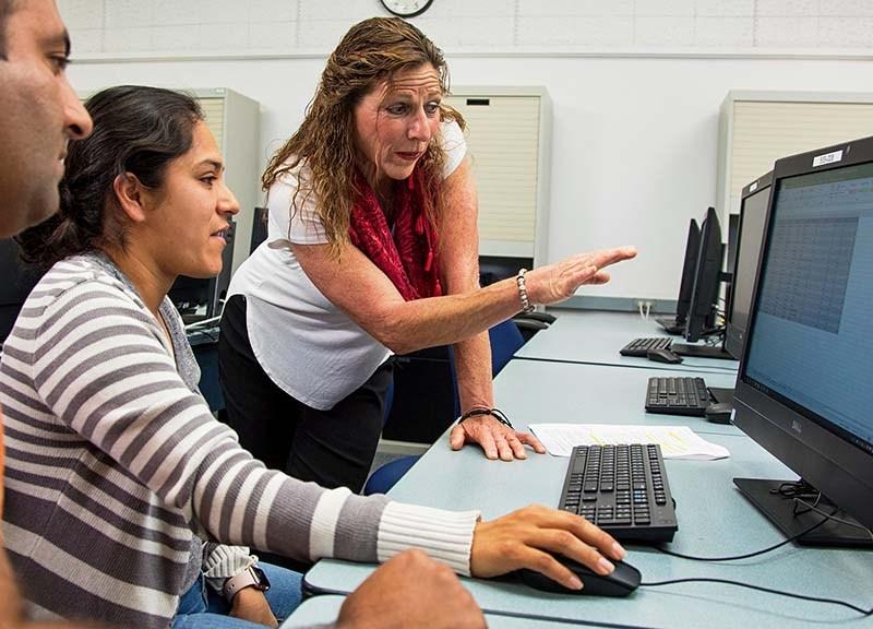 Grossmont College Information Systems instructor Julie Hansen.
