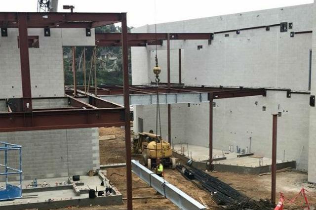 Event Center under construction at Monte Vista High School